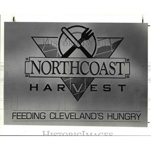 1991 Press Photo Sign on Side of Van for North Coast Harvest - cva80167