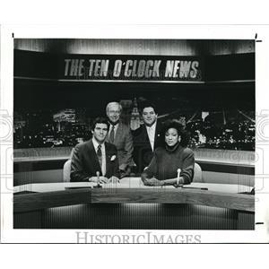 1988 Press Photo ib Shanley, Frank Cariello, Bob Hetherington & Romona Robinson