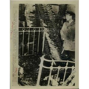 1948 Press Photo Charred walls of Virginia Hotel at Mewark Ohio fire - nee83817