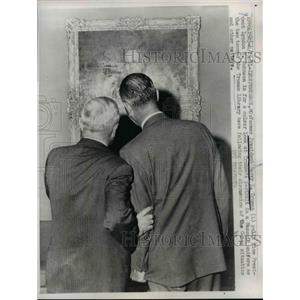 1961 Press Photo Pres.Harry Truman and Vice Pres. Johnson at Truman Library