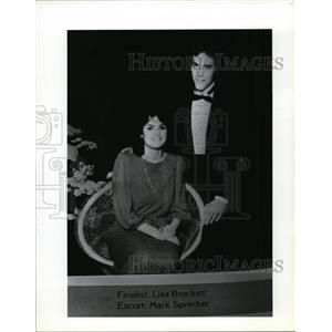 1987 Press Photo Don Brockett and Lisa Brockett - spa01680