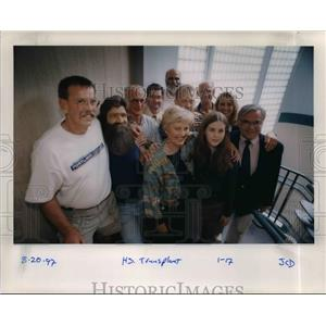 1997 Press Photo Family of the Organ Transplant patient in Oregon - orb31261