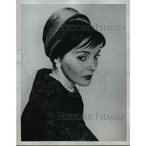 1959 Press Photo Fall Hat for 1959 Velour. - nee83688