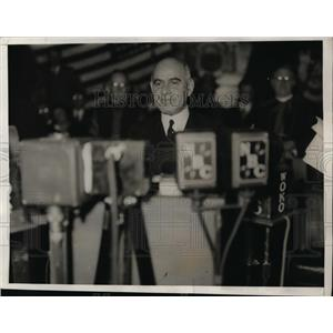 1933 Press Photo Herbert Lehman at NY Governor's inauguration speech - nee87046