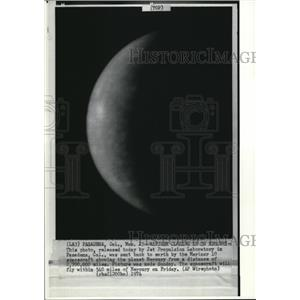 1974 Wire Photo The picture of Mercury taken by the Mariner 10 - cvw09198