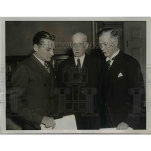 1936 Press Photo Sen.Gerald P. Nye, R.Alton Moore and Sen Key Pittman.