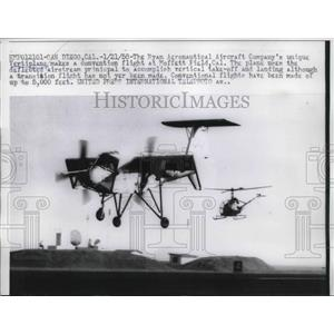 1958 Press Photo Ryan Aeronautical vertiplane makes convention flight