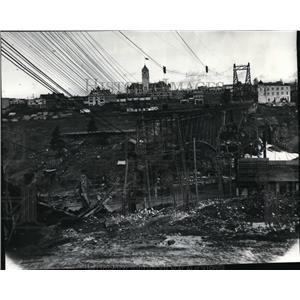 1910 Press Photo Monroe Street Bridges Spokane - spx01698