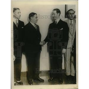 1928 Press Photo Raffalo Maiullari NYC facist, Conte IT di Revel, Conte Guiglia