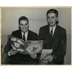 1957 Press Photo Phillip Crane & Wally King WJW Radio - cvp80832