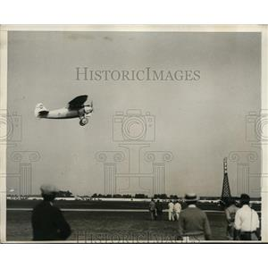 1930 Press Photo Marcel Doret Frech ace aviator at races in Chicago Illinois