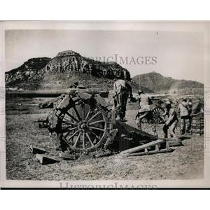 1936 Press Photo Italian heavy artillery advances at Erytherian front lines