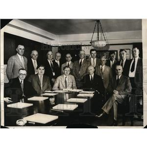 1931 Press Photo United Mine Workers John L Lewis W Doak R Lamont P Murray