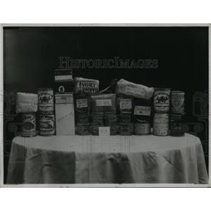 1919 Press Photo In German Prison Each Man Gets 4 Boxes