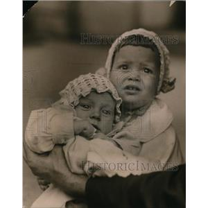 1920 Press Photo Madelaine Louise and sister, daughters of Mrs JC Garner Atlanta