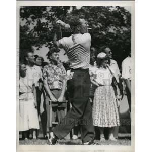 1954 Press Photo Earl T Stewart at Tam O Shanter World Golf Championship Chicago