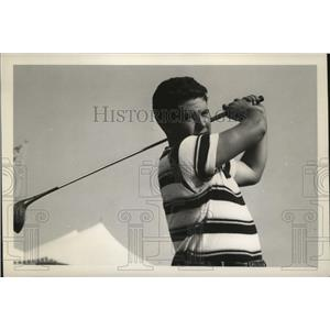 1937 Press Photo Ed Oliver at the 1937 Canadian Open, St. Andrews, Toronto