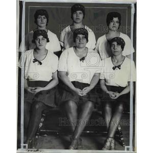 1929 Press Photo Sokol Nova Vlasts Women Group Leaders