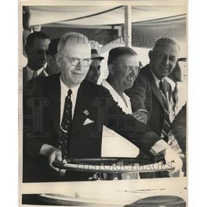 1944 Press Photo J.A. Secara, Pres Madera Irrigation Dist Board of Directors