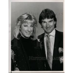 1990 Press Photo Chris Evert and Jimmy Connors will be together again in careers