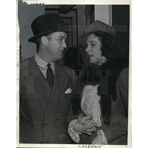 1939 Press Photo Henry Topping & Bride Former Gloria Baker Socialite Honeymoon
