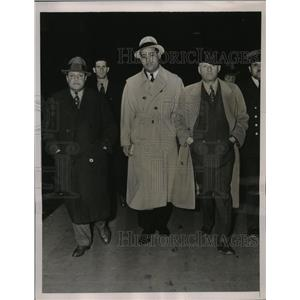 1937 Press Photo Joe Louis, manager Julian Black & Mike Jacobs in NYC