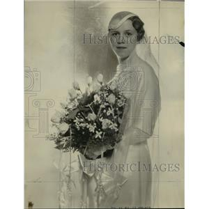 1934 Press Photo Mrs Lawrence Henry Biehn was Dorothy Jane Swendson - mja15931