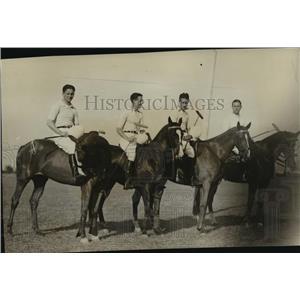 1928 Press Photo Four sons of Harvey S. Firestone, Akron, O. Rubber Millionaire