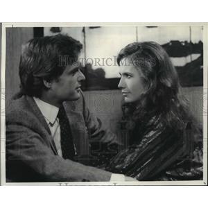 """1984 Press Photo David Selby and Ana Alicia in """"Falcon Crest"""" - mjp00569"""