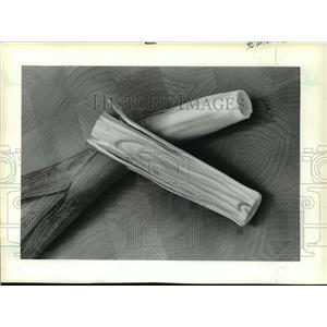 1983 Press Photo Newly harvested Leeks - mja11845