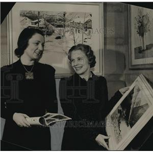 1940 Press Photo Mrs. Andrae & Mrs. Frederick Berndt at White Woman's exhibit
