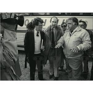 1983 Press Photo State Senators Joseph Strohl and Lynn S. Andelman, Paul Wilson