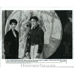 1994 Press Photo Marisa Tomei & Robert Downey Jr. in Only You - mjp00542