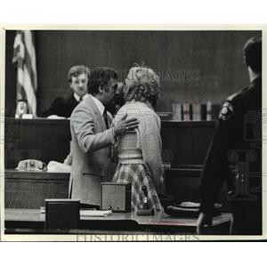 1982 Press Photo Atty Donald Eisenberg, Lawrencia Bembenek, Judge Skwierawski