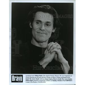 Press Photo Acclaimed actor Willem Dafoe