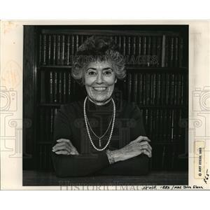 1983 Press Photo Annie Glenn - cvb71143
