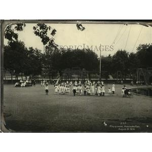 1914 Press Photo Playground, Kosciusko Park - mjx08513