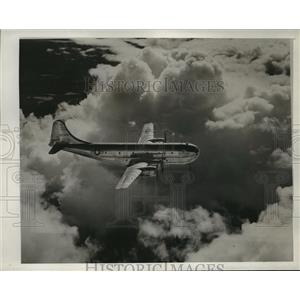 1945 Press Photo Boeing C-97 Airplane in Flight - ney21991
