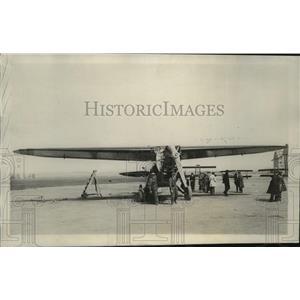 """1928 Press Photo Plane """"France"""" of Louis Coudouret, de Mailly-Nesle @ Le Bourget"""