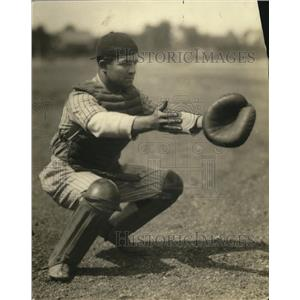 1924 Press Photo Olsen is the catcher for Saint Stanislaus School - cvb76698
