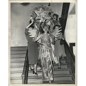 1949 Press Photo Carnival Queen of Virgilians - noca00872