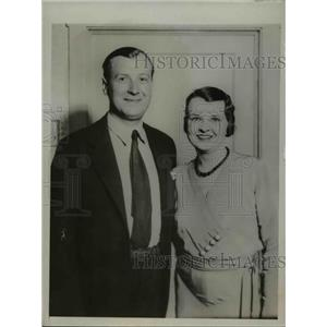 1932 Press Photo First Photo of Marion Talley and Husband Michael Raucheisen