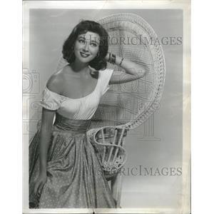 1957 Press Photo Radio Shows Mary Magdalene Movie Galli - RRR97817