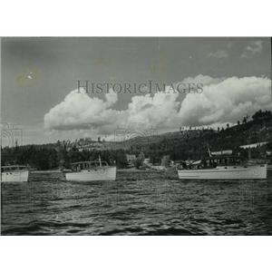 1941 Press Photo Boats at Bayview, Idaho - spx10892