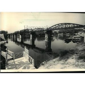 1908 Press Photo A bridge that crosses the River Kwai at Kanchanaburi, Thailand