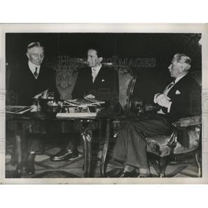 1837 Press Photo Dr.Hjalmar Schacht,Dr.Guido Schmidt, Franz Von Papen