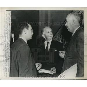 1948 Press Photo Walter White After His Presentation of His Civil Rights Program