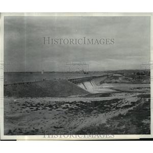 1874 Press Photo Minidoka Irrigation receives water from American Falls Dam