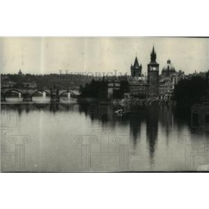 1914 Press Photo City Hall in Prague - The Beautiful Capital of Bohemia