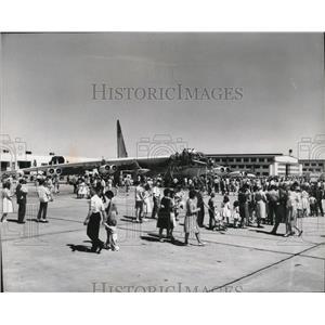 1966 Press Photo B52 Bomber at Fairchild Air Force Open House - spa42136